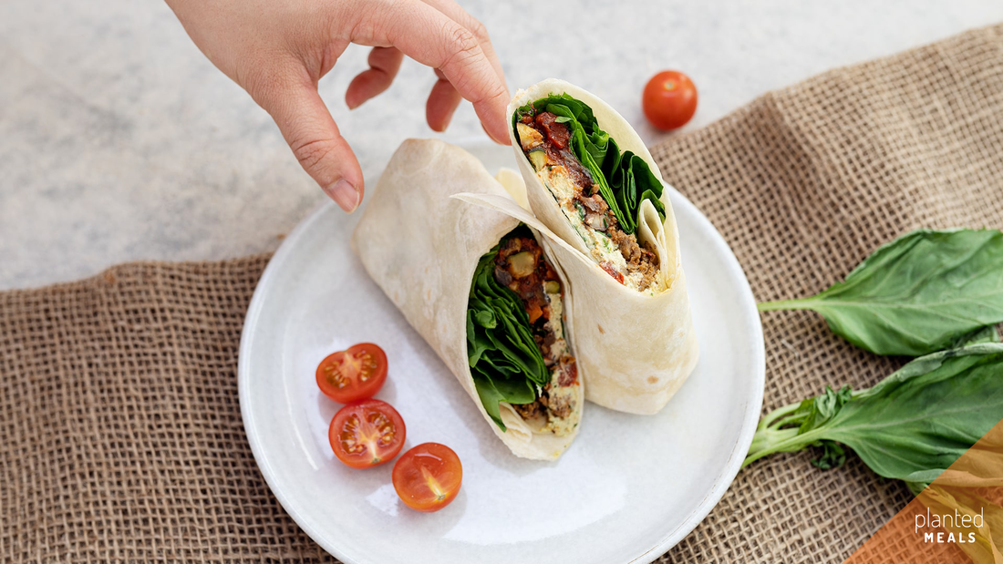 planted meals vegan pizza wrap