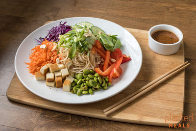 Noodle Salad with Smoked Tofu