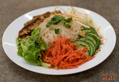 Vietnamese Vermicelli Salad with Lemongrass Tempeh